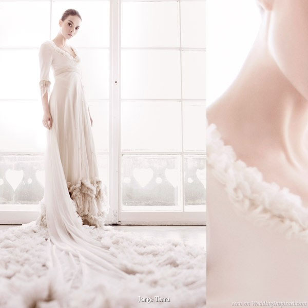 elbow length sleeve wedding - Gelinlik Modelleri