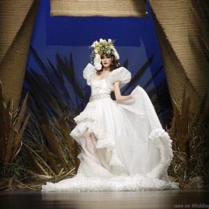 Francis Monesinos wedding dress at Bridal Fashion Week in Barcelona, Spain 2010