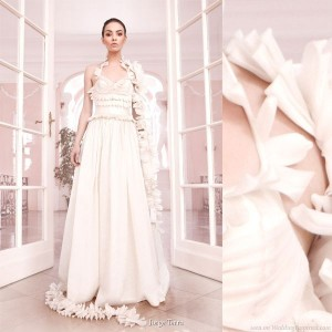 Jorge Terra Colleciones Novias - flower ruffle strap wedding gown from the 2010 bridal collection