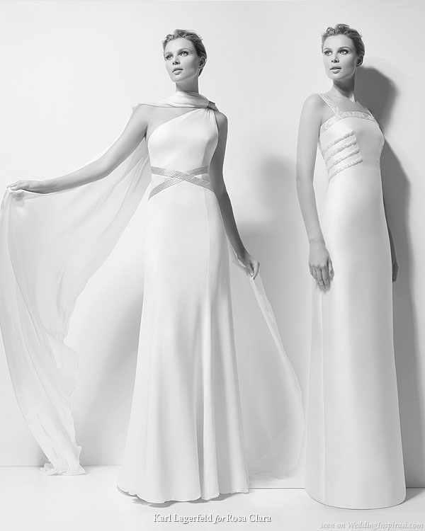 Rosa Clara 2010 bridal gown collection designed by Karl Lagerfeld - Xenobia and Xara wedding dresses