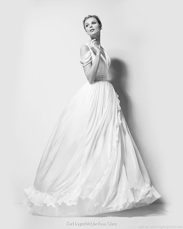 Beautiful wedding gown Xanthe, by Karl Lagerfeld bridal 2010