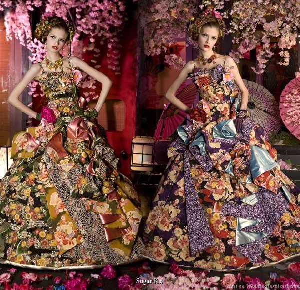 Japanese Wedding Gown: Sugar Kei Sweet Princess Wedding Dresses