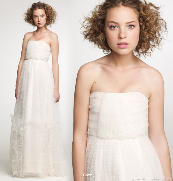 Polka dot tulle strapless gown from J.Crew Fall 2010 bridal collection