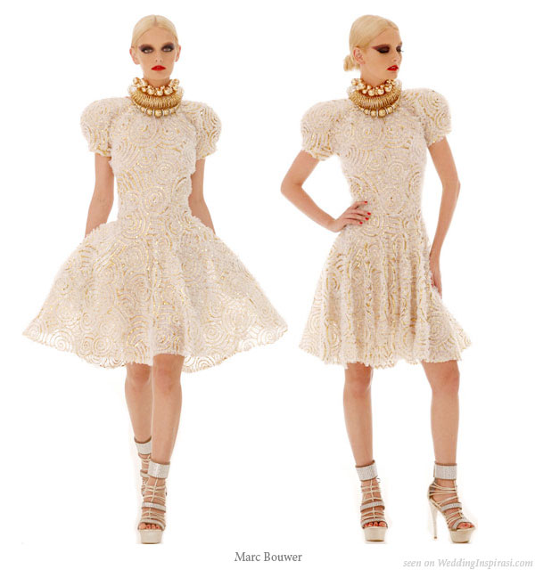 Short White Sparkly Dress From Mark Bouwer 2010 Spring Collection