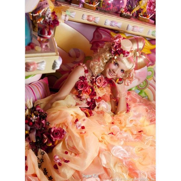 Life's peachy - super kawaiii cute and sweet wedding dresses from Sugar Kei