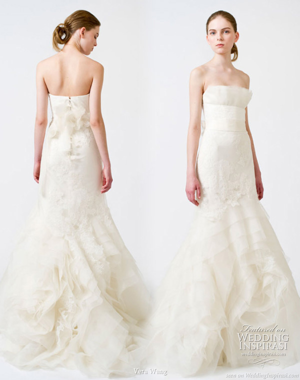 Vera Wang 2011 Spring/Summer bridal gown collection - strapless white wedding dress
