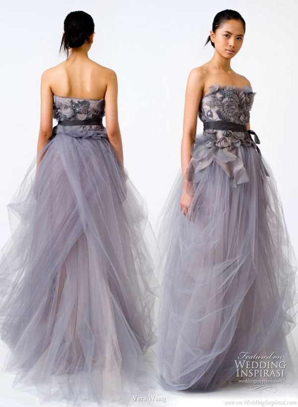 Vera Wang Spring 2011 bridal gown collection - wedding dresses in color
