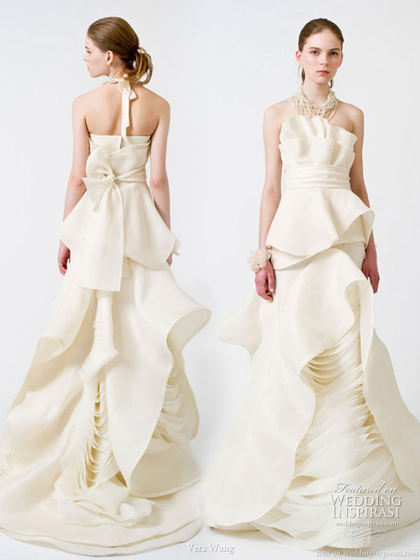Vera Wang Weddings - flower petal inspired wedding dress from the Spring 2011 bridal gown collection