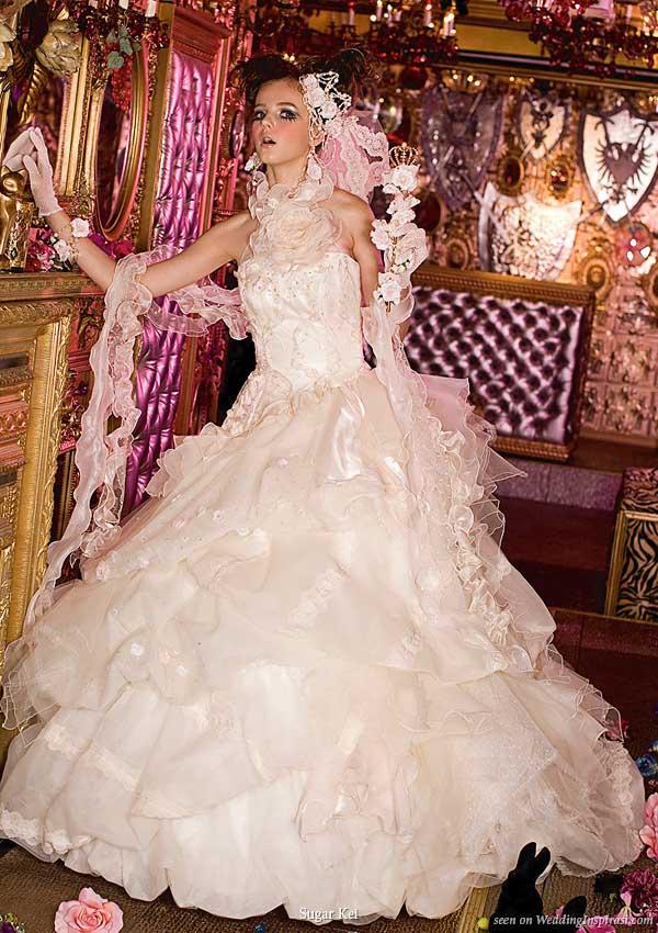 Welcome to my bridal boudoir - white western wedding dress by Sugar Kei