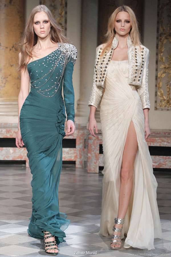 Military inspired wedding dresses and evening gowns from lebanese designer Zuhair Murad