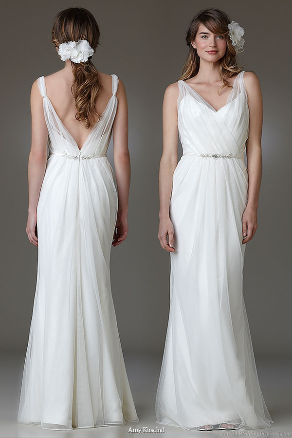 cowl neck gowns