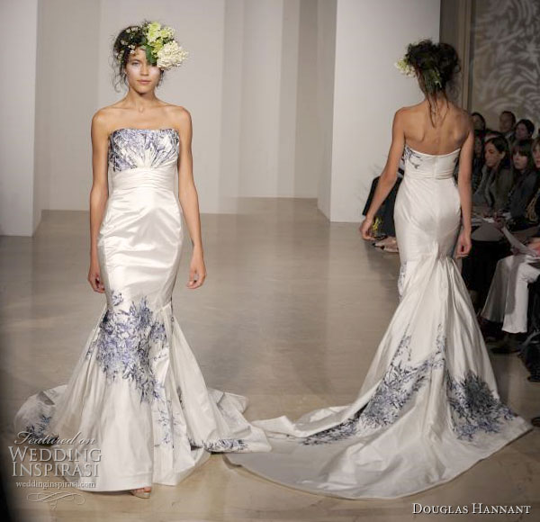 Blue And White Wedding Gowns: Douglas Hannant 2011 Bridal Gown Collection