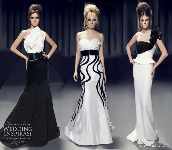 black and white couture
