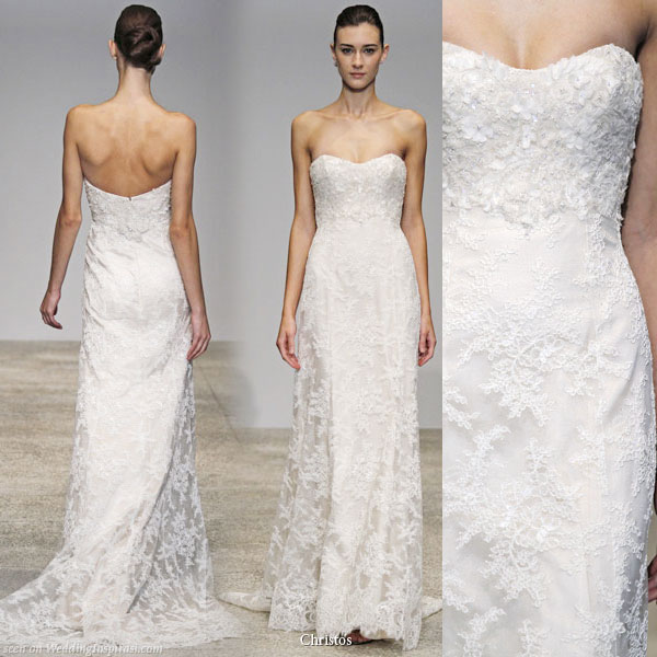 Christos Spring 2011 Wedding Gown Collection - Lily of the Valley bridal dress