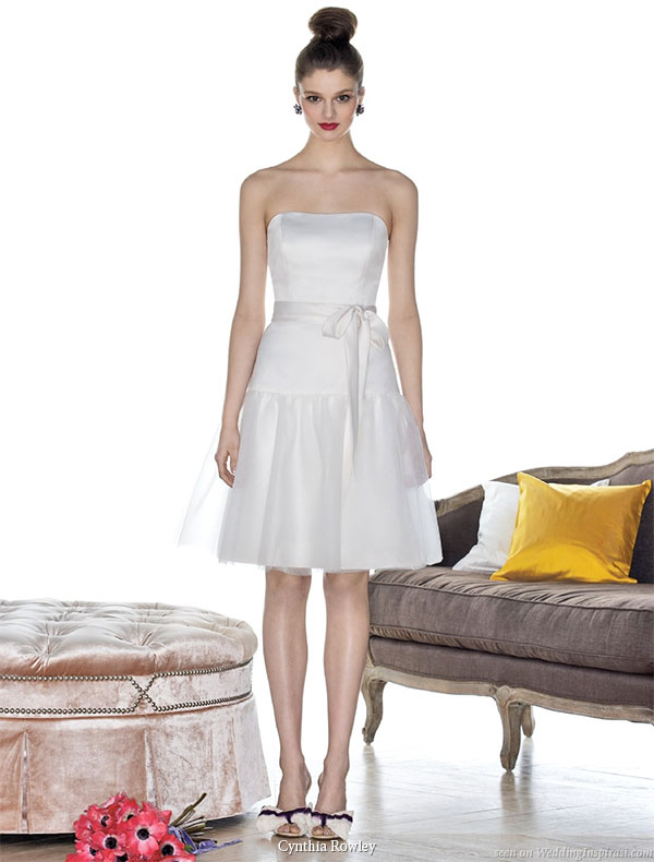 Cynthia Rowley bridesmaid collection 2010 - white flirty short  strapless gown