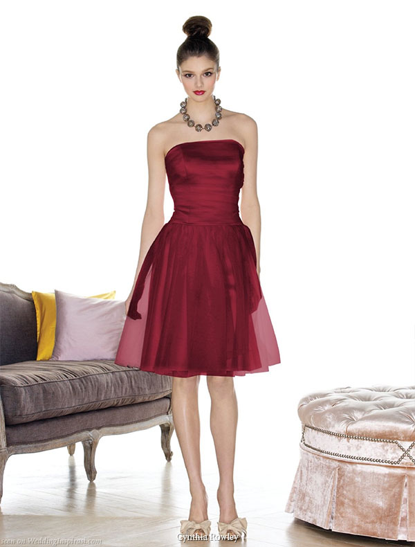 Newly launched designer bridesmaid collection by Cynthia Rowley -  short and long gowns available at Dessy