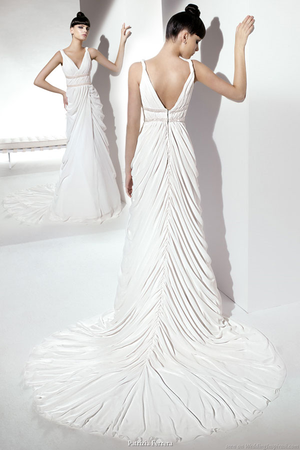 Patrizia Ferrera 2011 bridal gown collection draped grecian goddess style