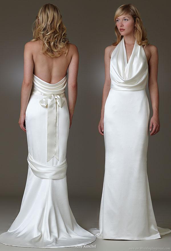 Amy kuschel wedding dresses wedding inspirasi for Satin cowl neck wedding dress