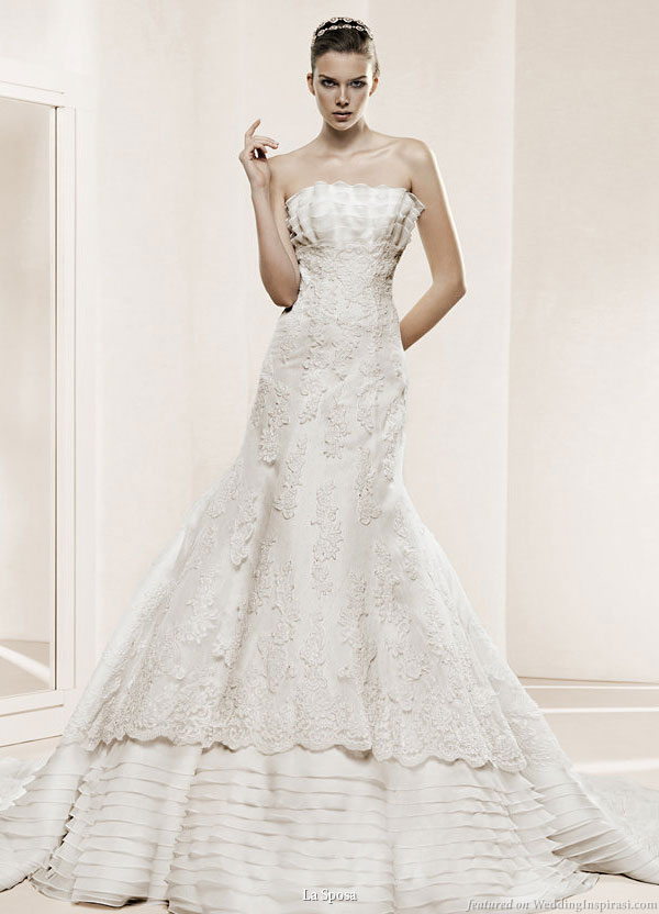 f169d3f51d1c La Sposa 2011 Bridal Gown Collection -- Deva strapless wedding dress with  double layer skirt