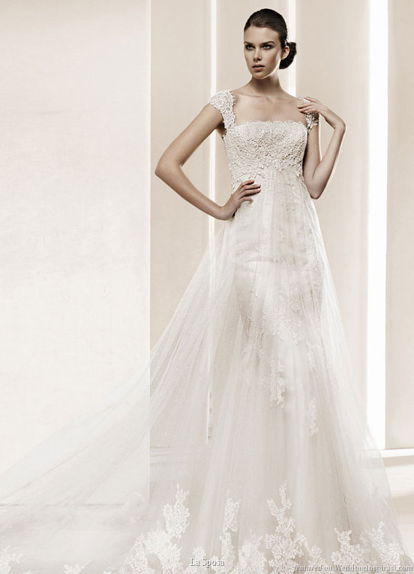 La Sposa 2011 Bridal Gown Collection Delta cap sleeve lace wedding dress