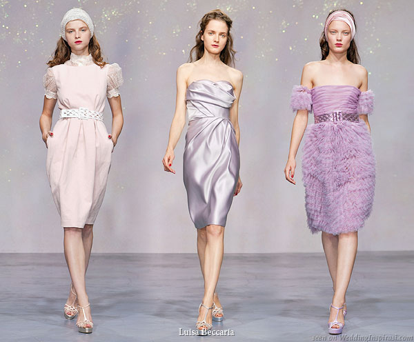 Luisa Beccaria Spring Summer 2010 collection - Short soft pink, lavender, lilac and purple dresses