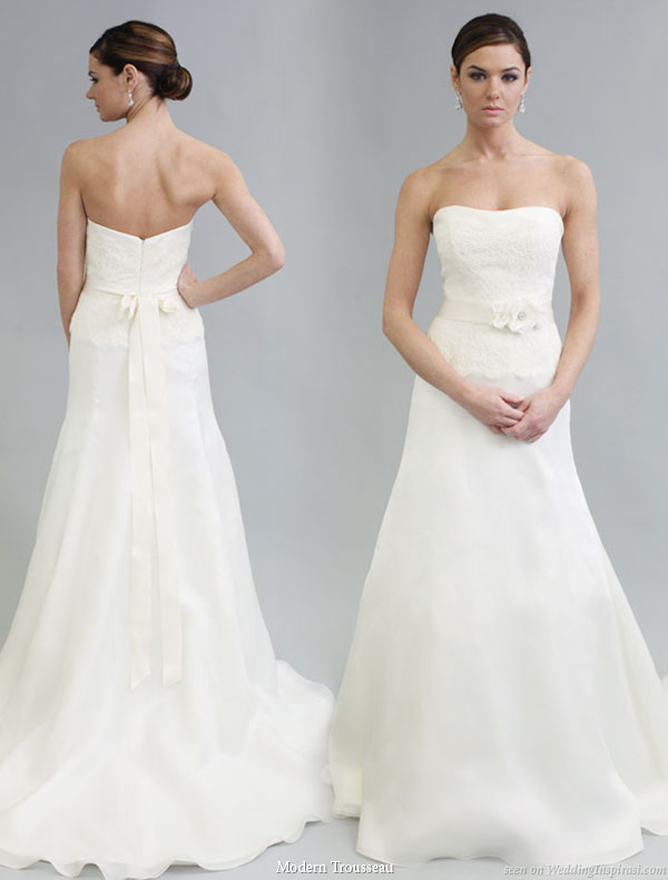 Modern trousseau 2011 bridal gown collection, Sophie strapless wedding dress