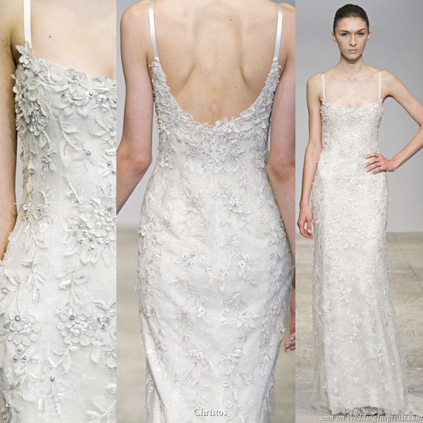 Solana wedding dress with straps - Christos Spring Summer 2011 bridal gown collection