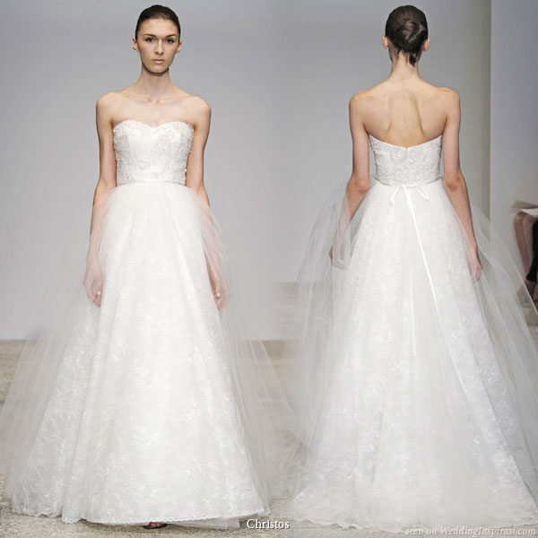 Spring blossom wedding dress from Christos Spring 2011 Bridal Gown Collection