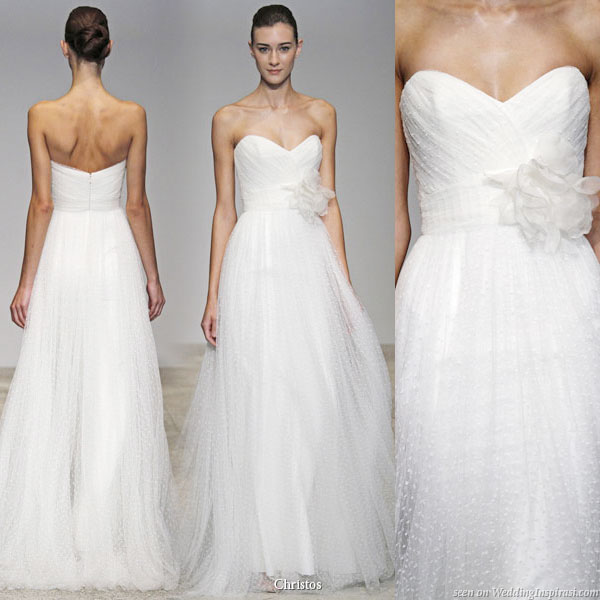 Christos Spring Summer 2011 wedding gown collection - Zinnia strapless bridal dress