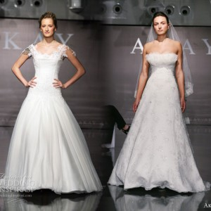 Akay Gelinlik Wedding Dresss 2011 Pre-Collection - brides model gowns with straps and strapless by the Turkish bridal house