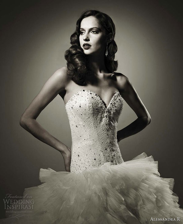 Alessandra R 2011 strapless wedding dress, Nicole Group