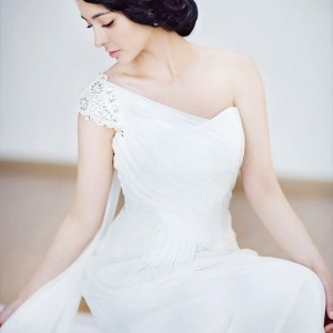 Anna Greeda 2010 gown collection - one shoulder wedding dress