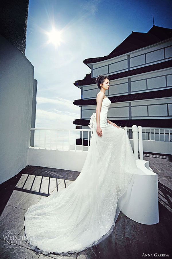 Anna Greeda 2010 collection - strapless wedding dress, Greeda Studios Korea