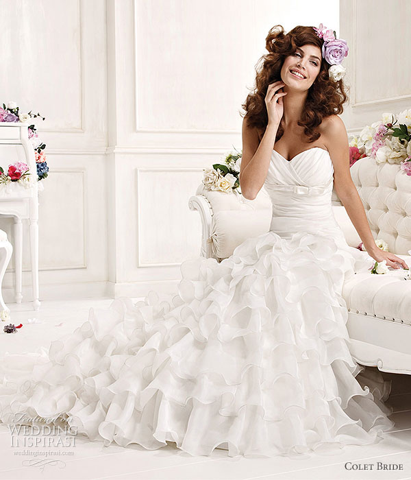 Colet Bride 2011 Collection Preview -- white sweetheart neckline ruffle wedding dress