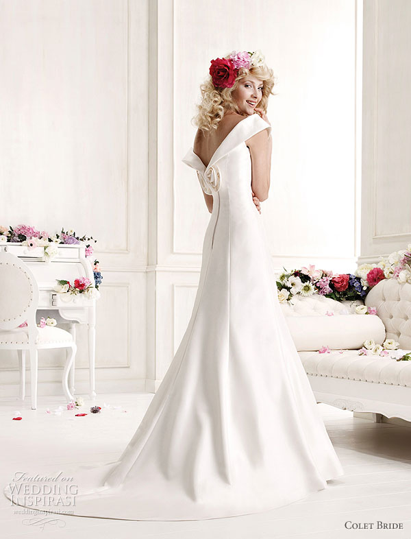 Colet Bride 2011 Collection Preview -- off-shoulder elegant wedding dress