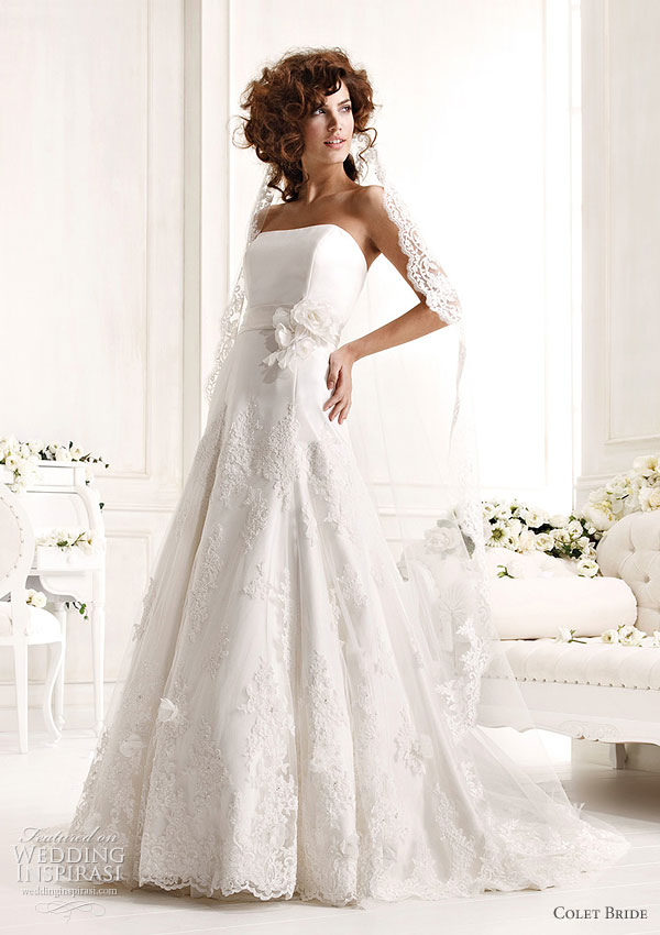 Colet Bride 2011 Collection Preview -- white strapless wedding dress