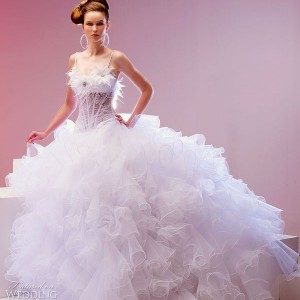Mirella 2010 bridal gown collection, white strapless wedding dress