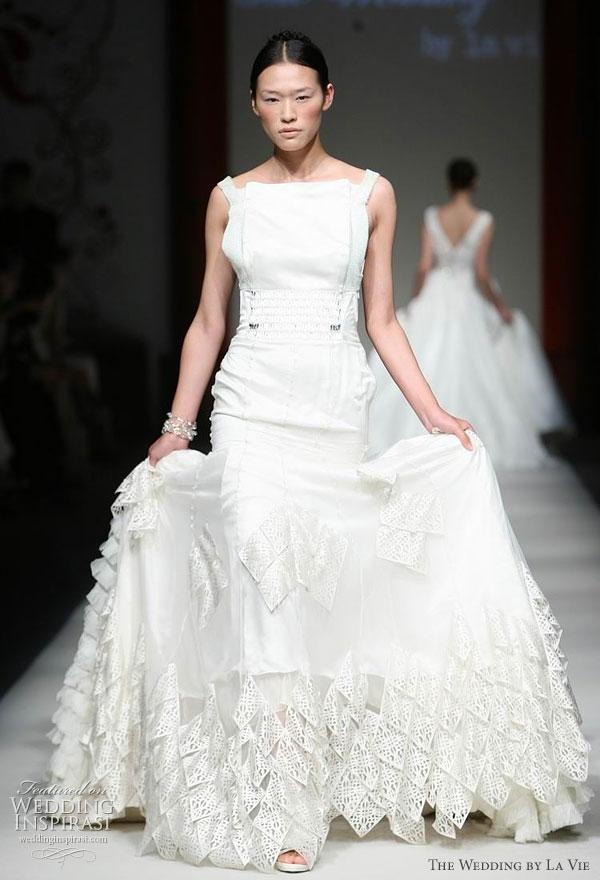 The Wedding by La Vie at Shanghai Fashion Week, couture wedding dress designed by Jenny Ji