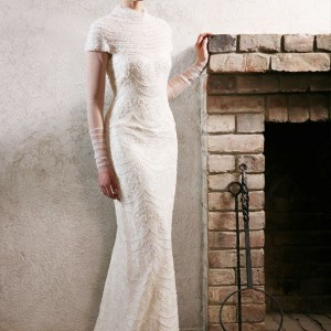 Topaza Pella 2010 Simply Love Bridal Gown Collection - Nefertyty wedding dress with long illusion sleeves