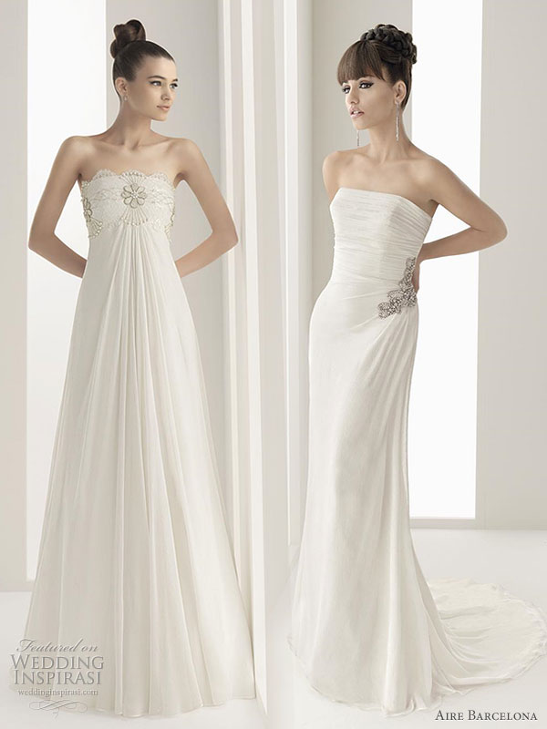 Aire Barcelona 2011 wedding dresses Nomada silk gauze and beaded lace
