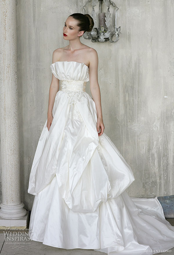 Bellantuono wedding dresses 2010 collection twotiered sash strapless