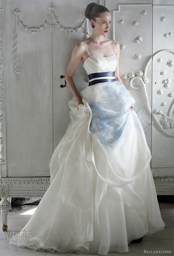 Bellantuono wedding dresses 2010 wedding inspirasi for Blue sash for wedding dress