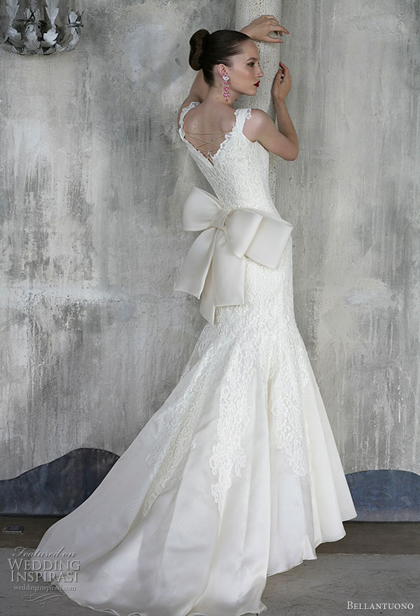 Bellantuono wedding dress with large bow at the back from the 2010 bridal collection