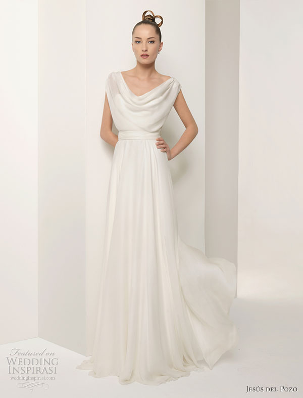 Jesús del Pozo wedding gowns from the 2010 bridal collection - DALIA Silk gauze dress