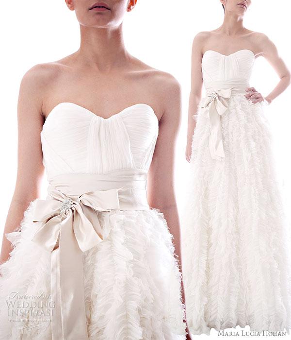 Hohan Fall Winter 20102011 bridal collection Leda white wedding dress