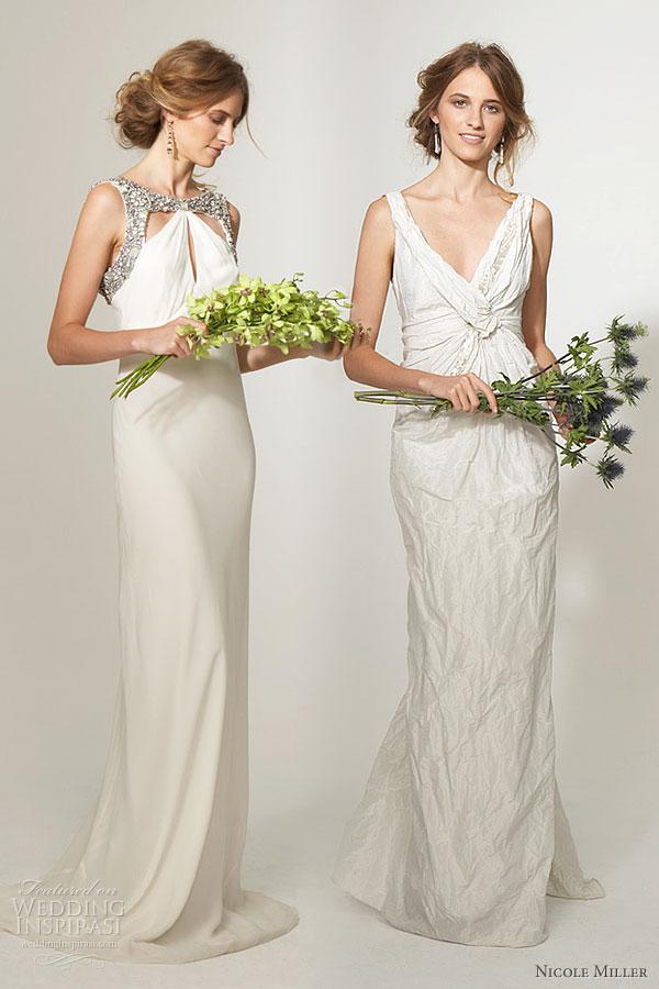 Nicole miller bridal collection wedding inspirasi for Silk georgette wedding dress