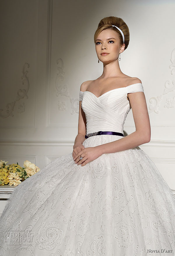 Novia D 39art wedding dress 2011 bridal collection offshoulder ballgown