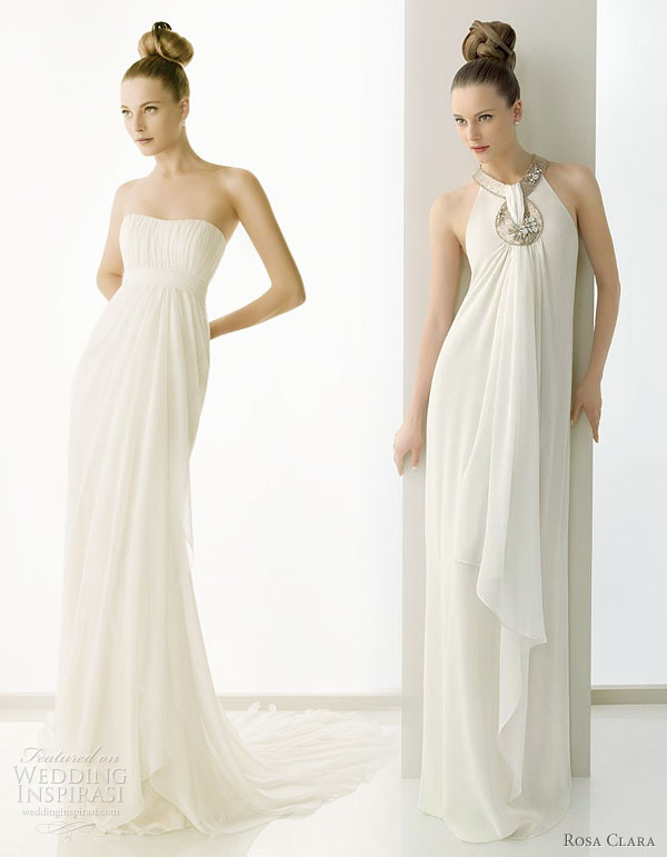 Rosa Clara 2011 wedding gowns - Estilo gauze wedding dress and Emocion bead-embellished silk gauze bridal gown