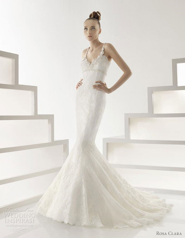 Rosa Clara 2011 wedding dress collection - Edith lace and bead-embellished bridal gown with mermaid silhouette