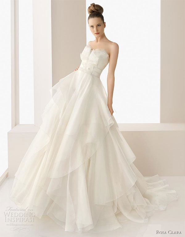 Rosa clar 2011 beautiful wedding dresses wedding inspirasi for Silk organza wedding dress